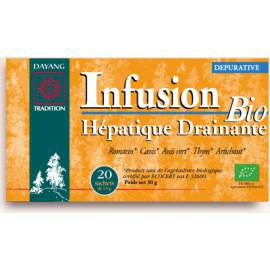 INFUSION BIO HÉPATIQUE DRAINANTE Action dépurative