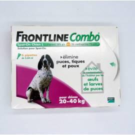 FRONTLINE COMBO CHIEN L 20/40KG 6 Pipettes antiparasitaire externe
