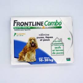 FRONTLINE COMBO CHIEN M 10/20KG 6 Pipettes