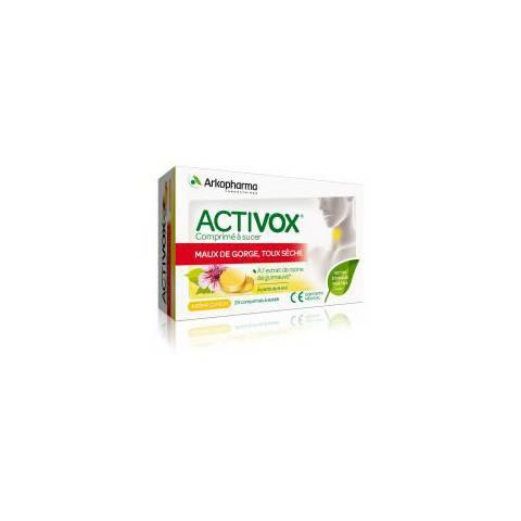 ACTIVOX TOUX SECHE Comprimé soulage les maux de gorge
