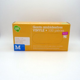 GANTS VINYLE AMBIDEXTRES Taille M 7/8