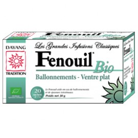 FENOUIL BIO infusion Boite de 20 sachets