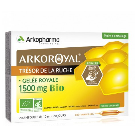 ARKOROYAL GELEE ROYALE 1500MG BIO défenses immunitaires