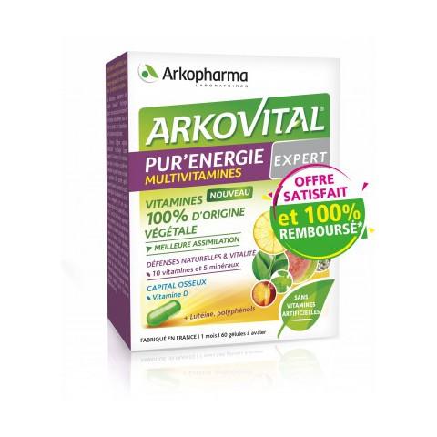 ARKOVITAL PUR'ENERGIE EXPERT Défenses naturelles et vitalité-pharmacie verte