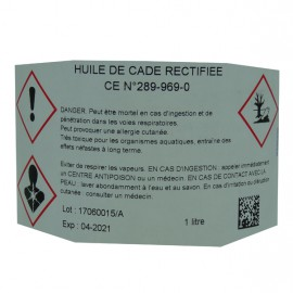 HUILE DE CADE RECTIFIÉE 1L