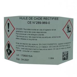 HUILE DE CADE RECTIFIÉE