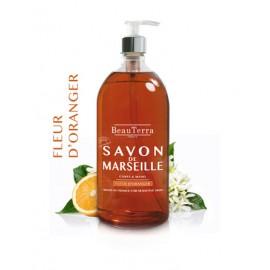 SAVON LIQUIDE DE MARSEILLE - FLEUR D'ORANGER