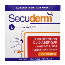 SECUDERM PANSEMENT FILM TRANSPARENT Taille L