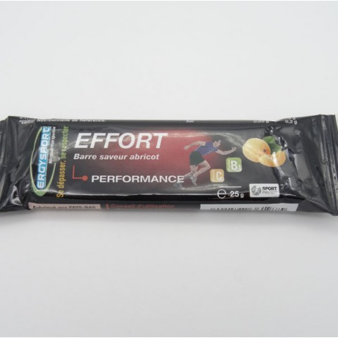 ERGYSPORT BARRE EFFORT GOUT ABRICOT