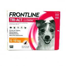 FRONTLINE TRI-ACT CHIEN 5 à 10 kg 6 Pipettes