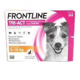 FRONTLINE TRI-ACT CHIEN 5 à 10 kg  3 Pipettes