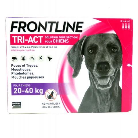FRONTLINE TRI-ACT CHIEN 20 à 40 kg 3 Pipettes