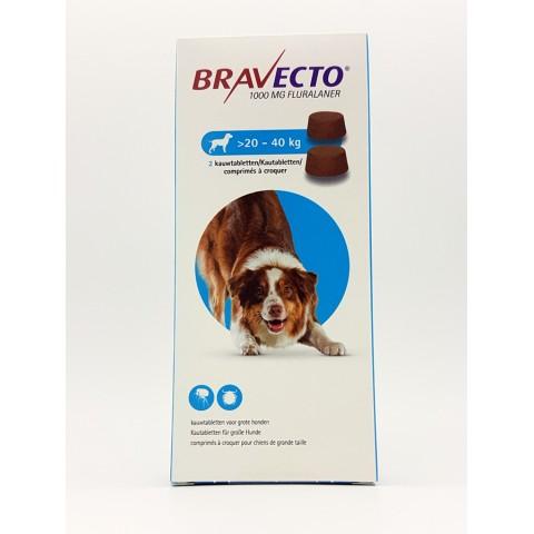 BRAVECTO Chien 20-40 kg boite de 2 comprimés