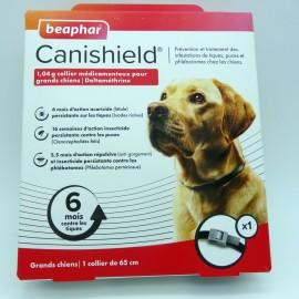 CANISHIELD collier antipuces et antitiques pour grands chiens. Boite de 1 collier médicamenteux