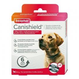 CANISHIELD collier anti puces et anti tiques pour grand chien. Boite de 2 colliers