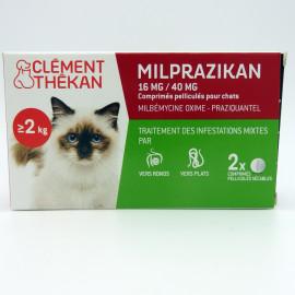 MILPRAZIKAN CHAT 16 mg/40 mg boite de 2 comprimés