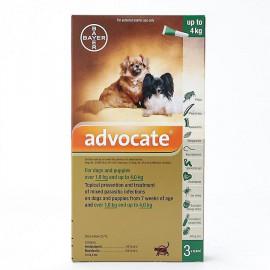 ADVOCATE chien 0 - 4 kg Boite de 3 pipettes