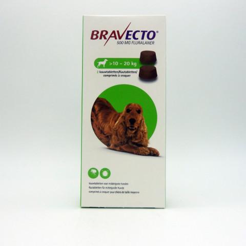 BRAVECTO Chien 10-20 kg Boite 2 Comprimé