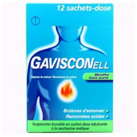 GAVISCONELL Menthe sans sucre suspension buvable 12 sachets