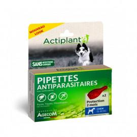 ACTIPLANT CHIEN 15 à 30 kg  Pipettes antiparasitaires naturelles